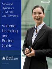 MS Dynamics CRM 2016, On-premises Pricing